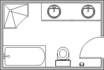 5-piece bathroom example floorplan