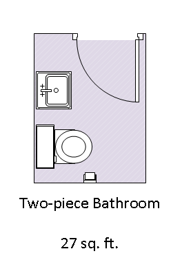 An example of a two-piece bathroom