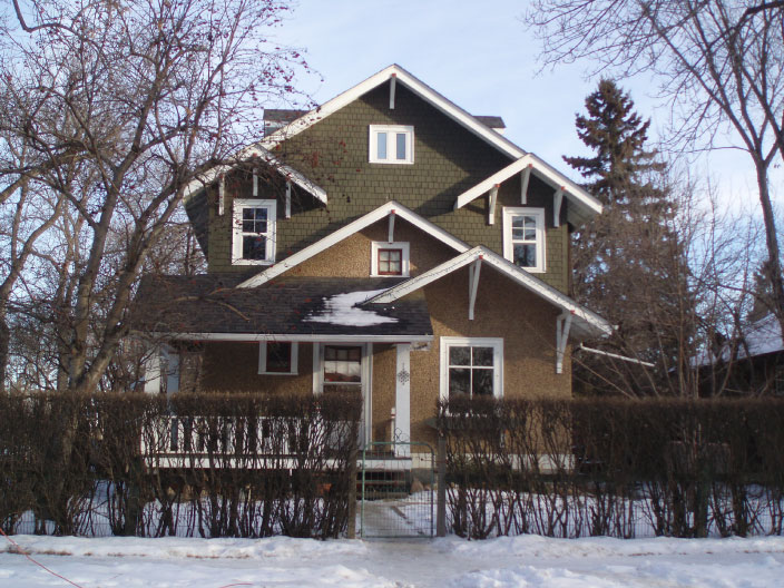 A two-storey house in Westmount, Edmonton