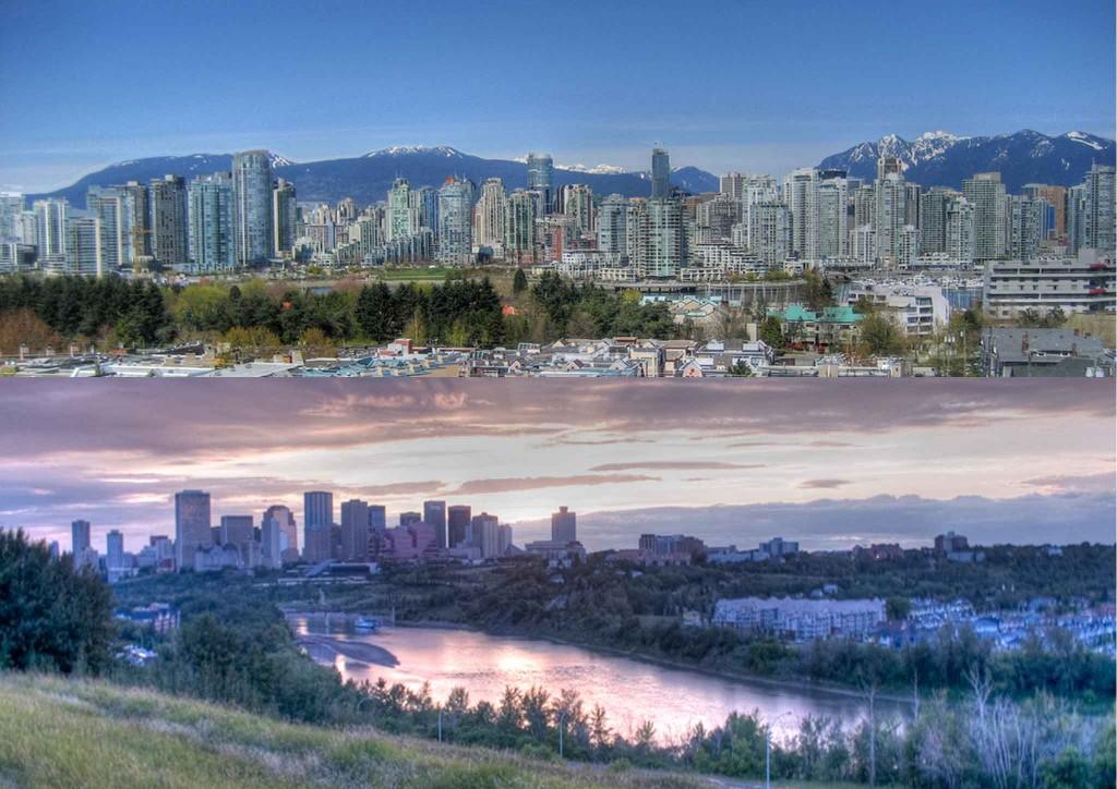 Vancouver & Edmonton Skylines