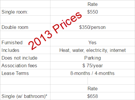 lister hall residence prices 2013