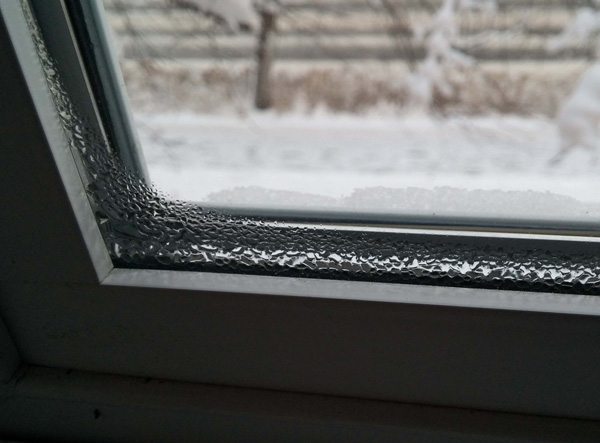 Condensation on windows in winter