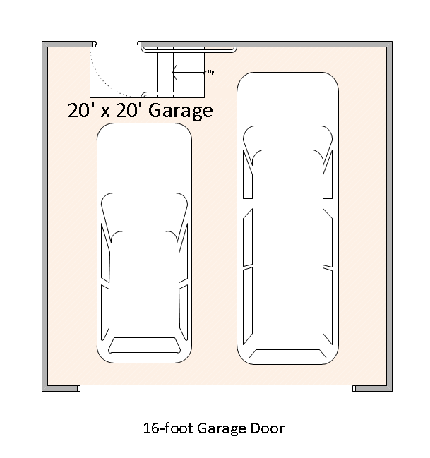 Example 20 foot by 20 foot garage.
