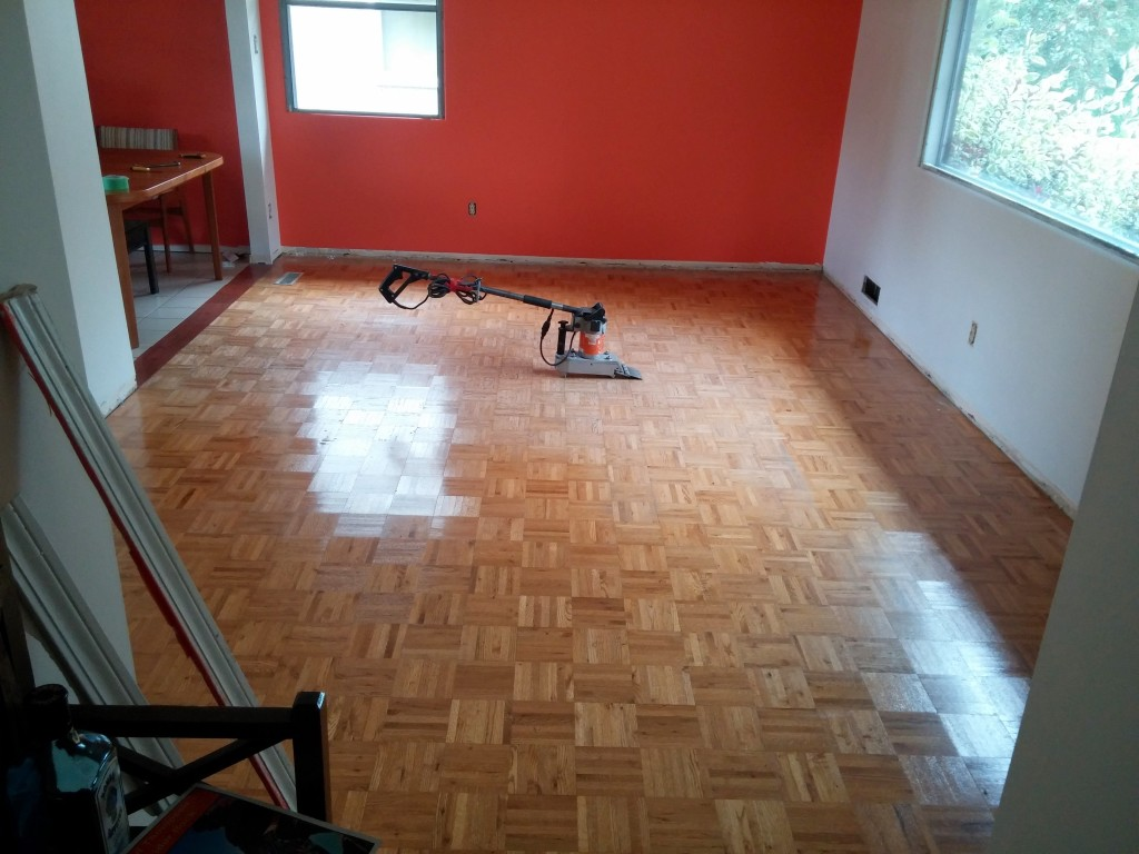 Parquet Flooring In Living Room