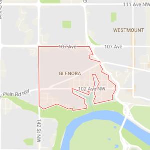 glenora edmonton small map