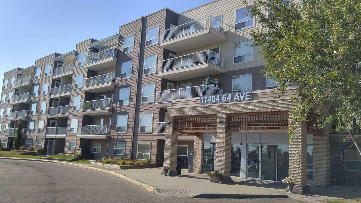Westpark Condominiums in Callingwood, Edmonton - Exterior Front