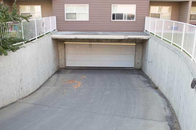 Parkade entry Westpark Condominiums Callingwood Edmonton