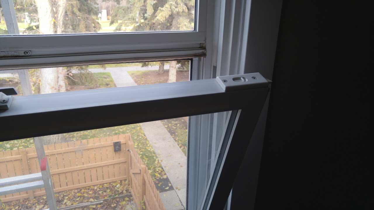 Egress window in a townhouse in Edmonton