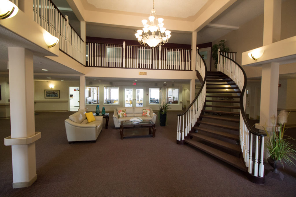 The foyer of Wolf Willow Manor