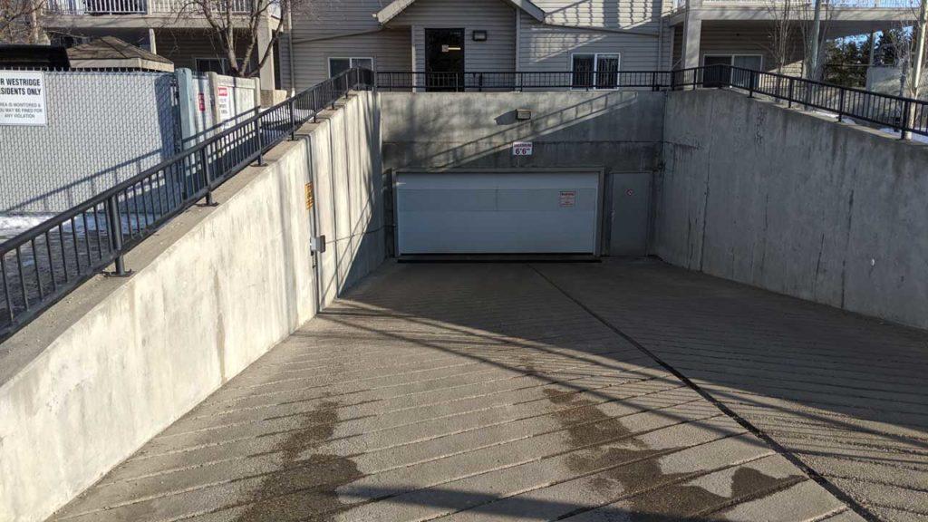 Parking Garage Entrance-at-The-Westridge Condo Building